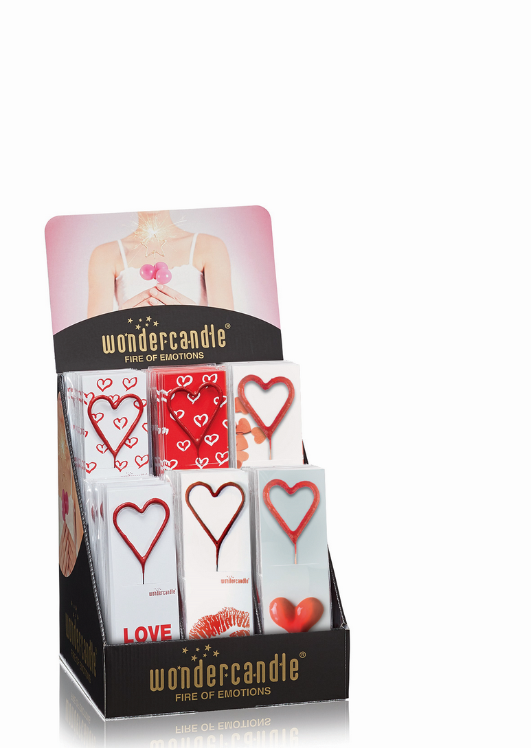 Ti Amo rot Sortiment 108 Wondercandle® classic