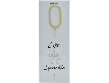 0 gold Giant Wondercandle® Life is much better with sparkle 498