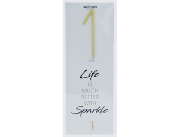 1 gold Giant Wondercandle® Life is much better with sparkle 498