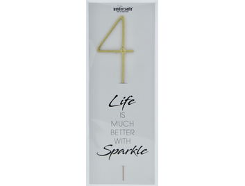 4 gold Giant Wondercandle® Life is much better with sparkle 498