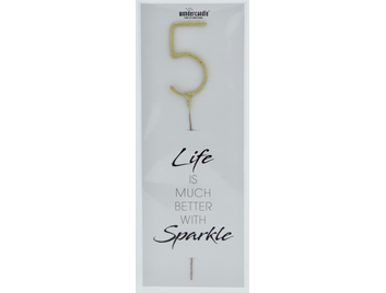 5 gold Giant Wondercandle® Life is much better with sparkle 498