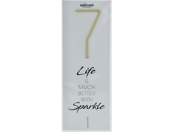 7 gold Giant Wondercandle® Life is much better with sparkle 498