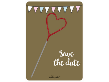 Save the date gold Mini Wondercard® #285