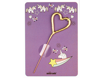 Unicorn lila 268 Stern gold Mini Wondercard®