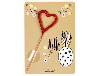 Hello Ananas unicorn 270 Herz rot Mini Wondercard®
