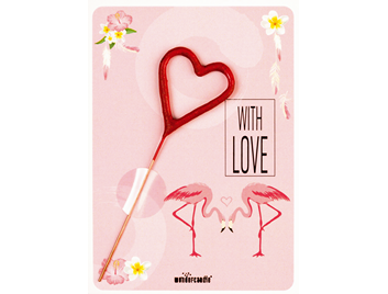 Flamingo rosa 292 Mini Wondercard® with LOVE