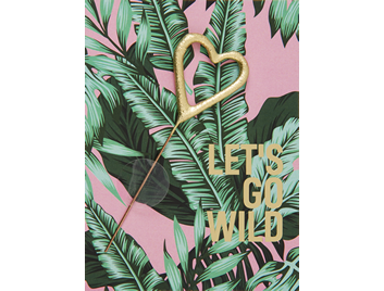 Lets go wild  rosa  390 Jungle Edition  Mini Wondercard®