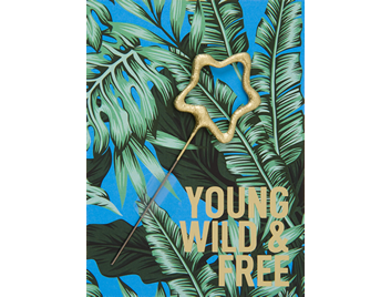 Young Wild & free  blau 391 Jungle Edition  Mini Wondercard®