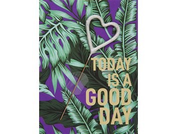 today is a good day  violett 392 Jungle Edition Mini Wondercard®