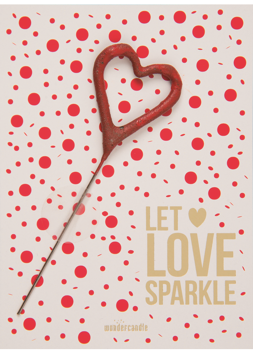 Let Love sparkle red points 416 Mini Wondercard®