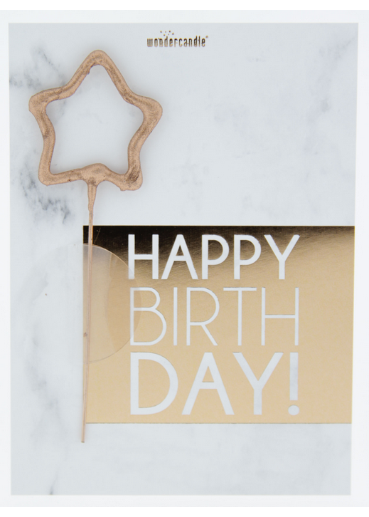 Happy Birthday 437 marble Mini Wondercard®