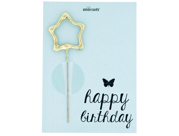 happy Birthday 462 Mini Wondercard Pastell hellblau