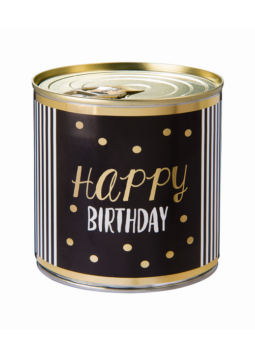 Cancake  Happy Birthday  339 gold dots Brownie black&white Edition